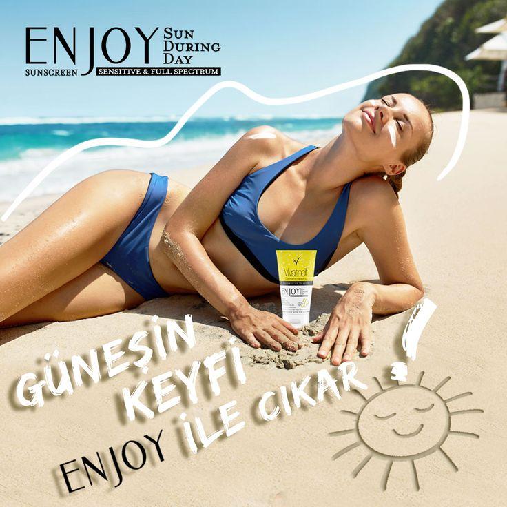 Enjoy Güneş Kremleri ile  güneşin keyfini çıkart.