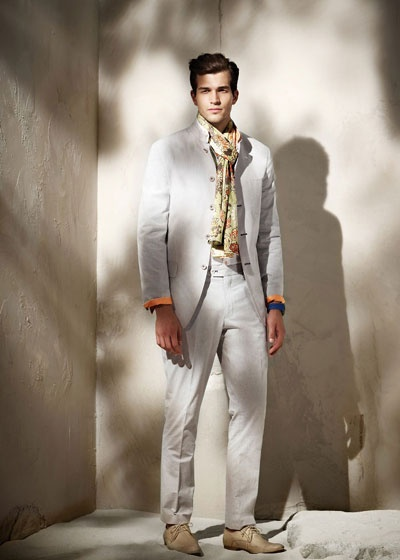 Shanghai Tang Men fashion - lovely summer suit - ideal for a summer garden party!