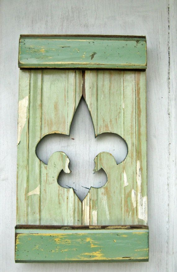 Reclaimed Wood Fleur De Lis  New Orleans Decor by woodenaht, $30.00