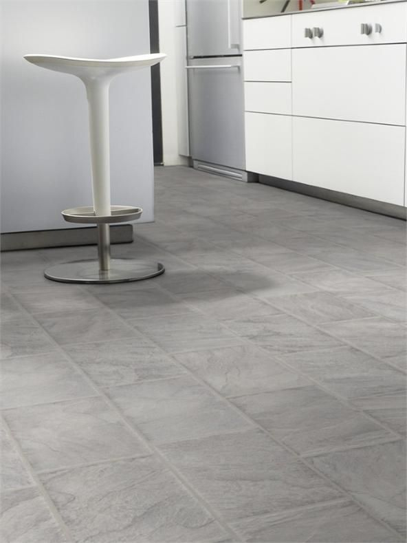 8mm Ashen Slate Tile Effect Laminate Flooring House Trends In Kitchen
