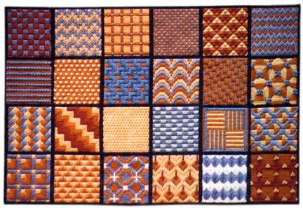 Needlepoint Pattern Series 1: Click on the patterns in the quilt sampler on site to see a close up of each.