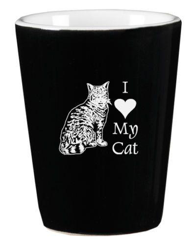 I Love My Cat Shot Glass