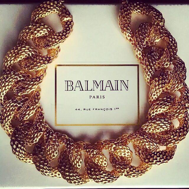 #Balmain gold necklace