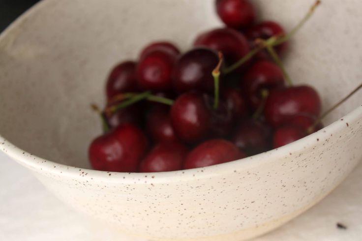 Medium stoneware white glazed ceramic bowl - Stinging Nettle Studio, Vancouver
