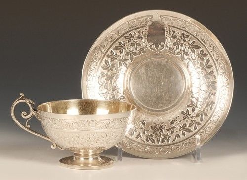 An Antique 19th Century French Silver Cup and Saucer   eBay