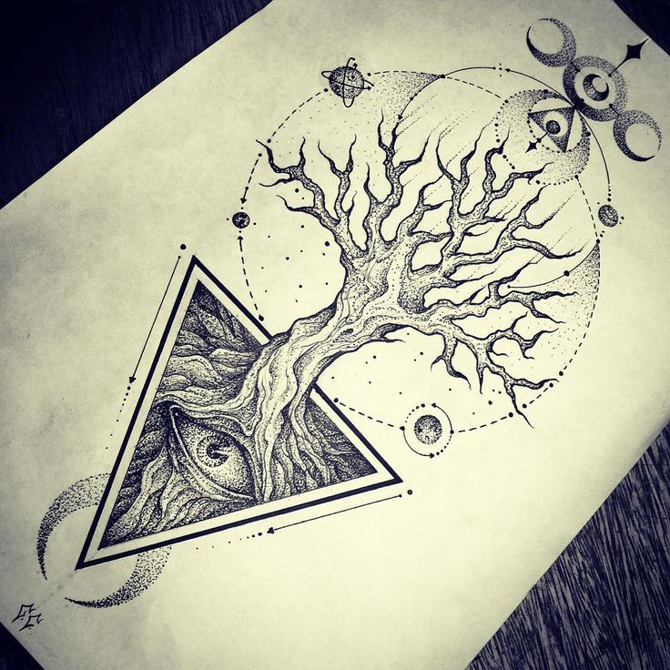 Sometimes death is not the end but a new beginning! Death Tree. #dotwork…