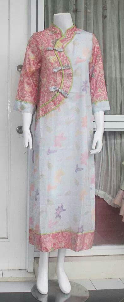 Cheongsam and batik mix design