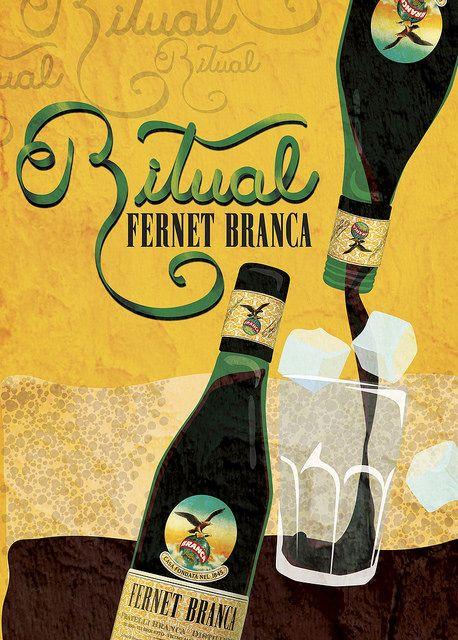 RITUAL BRANCA | Flickr #fernetbranca #fernet #afiche #concurso #ilustración #botella #clarisagb #clarisagamboabenaglia