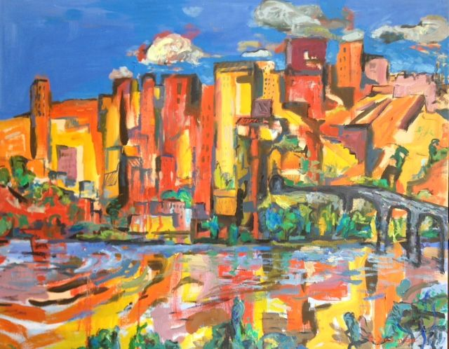 """The Imaginary City"" by David Sandum (Founder of Twitter Art Exhibit) Oil on canvas 