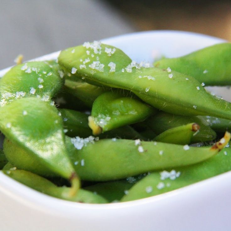 <p>Edamame is truly one of nature's perfect snacks. In just a half cup of shelled edamame (or just over 1 cup of edamame in the pods) you've got 9 grams of fiber and 11 grams of protein - all for just 120 calories!</p><p>In addition to those stellar nutrition facts, it also boasts vitamin C and A, iron and a bit of calcium.</p><p>Serve simply with a touch of sea salt!</p>