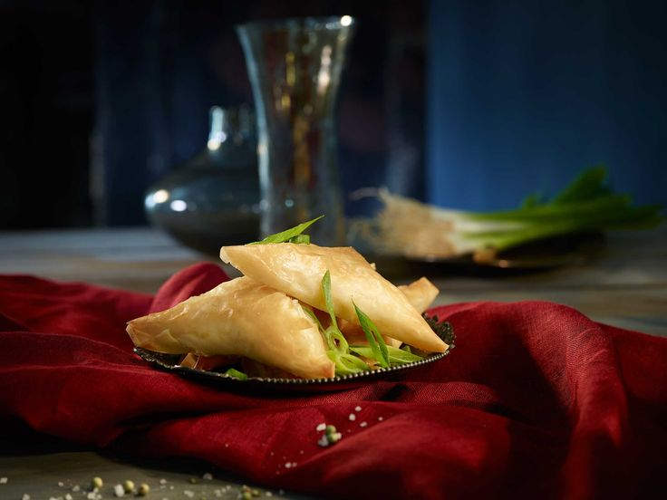 Enjoy these savoury Creamy Shrimp Phyllo Parcels with a tangy honey ginger dipping sauce.