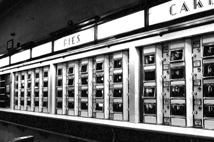 The Horn and Hardart Automat, you put the money in the