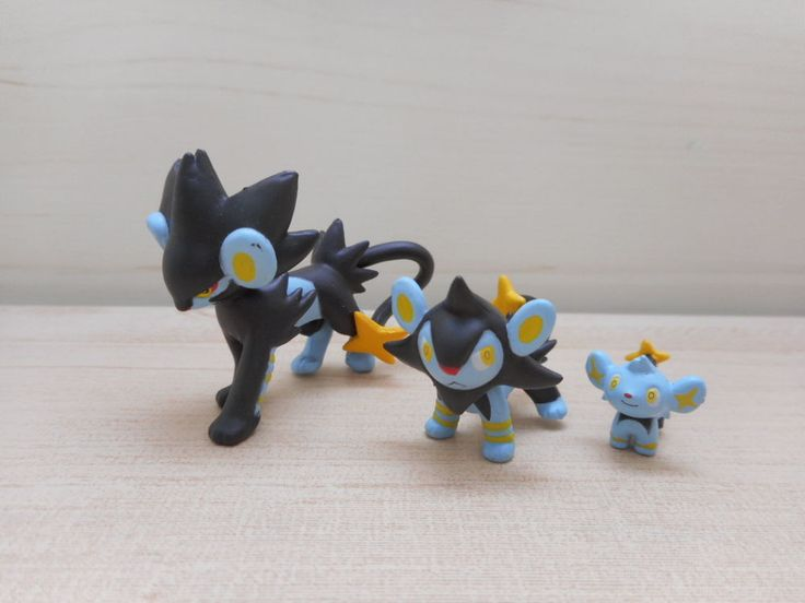 Pokemon Shinx Luxio Luxray Zukan Figure 1/40 Scale Tomy Set Rare Toy #Tomy