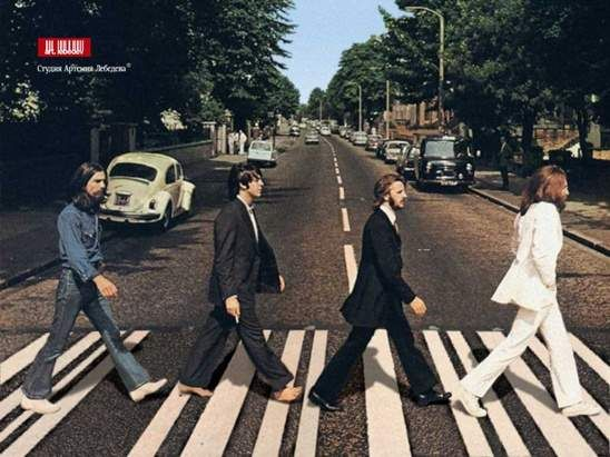 The Beatles - Abbey Road 앨범 자켓 촬영 현장