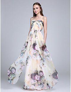 2017 Lanting bride® σιφόν όροφο μήκους παράνυμφος φόρεμα - γλυκιά μου με Criss Cross
