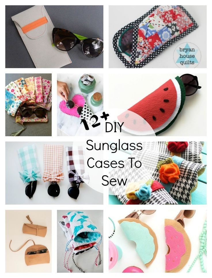 DIY Sunglass Cases To Sew