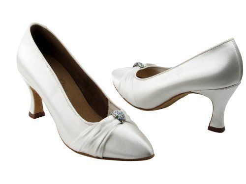 "Ladies Women Ballroom Dance Shoes for Latin Salsa Tango Signature S9169 White Satin 2.75"" Heel Very Fine Shoes. $65.95. Professional ultra soft suede outer sole. Conventional buckling (non clippping). Cushioned insole for shock absorption and comfort. Minimal shank board for added support and flexibility. 2.75"" Heel"