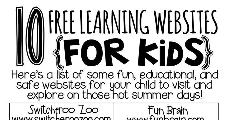 10 free learning websites for kids. SummerWebsites.pdf