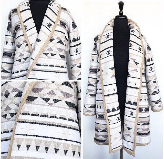 A personal favorite from my Etsy shop https://www.etsy.com/ca/listing/585892086/wool-cardigan-in-navajo-print-white