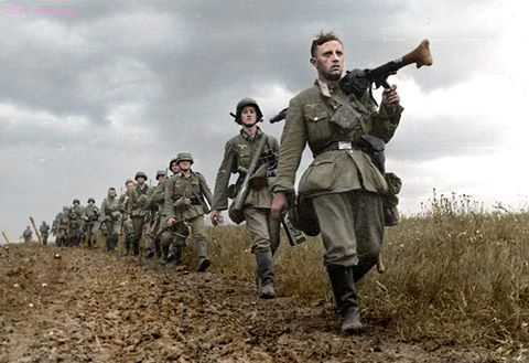 Germans soldiers during the Battle France. 1940. Beautiful photo.
