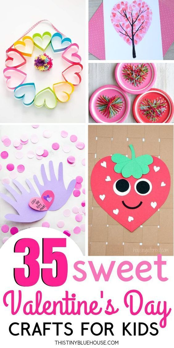 DIY Craft: 35 Valentine's Day Crafts For Kids that are easy to make and super fun. Add one or more of these adorable crafts to your holiday crafting to-do list! <a class=