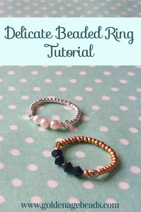 Beaded rings are a lot of fun to make and they tend to work up pretty quickly. Once you've got your materials together, you should be able to make this project in around 30 minutes!