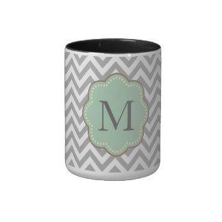 Gray Chevron Mugs