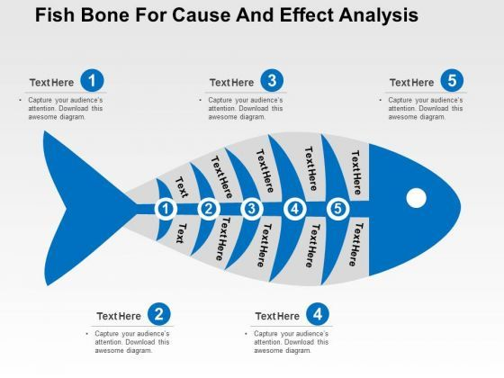 fish bone for cause and effect analysis powerpoint