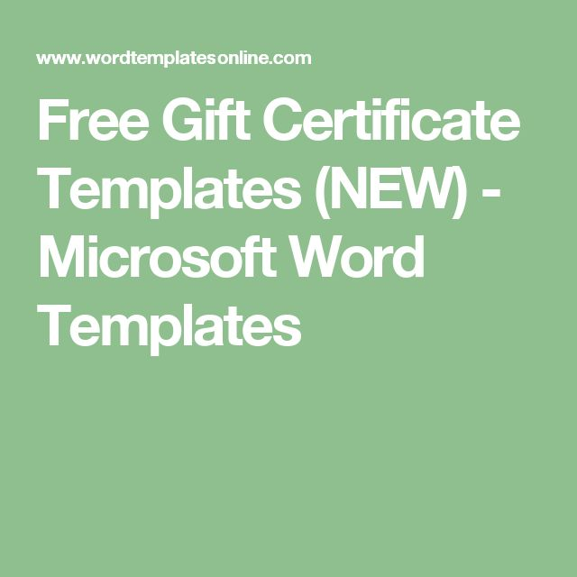 Free Gift Certificate Templates (NEW) - Microsoft Word Templates