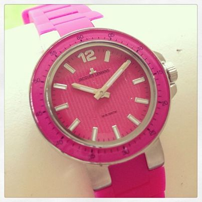 Pretty in pink women's watch by Jacques Lemans