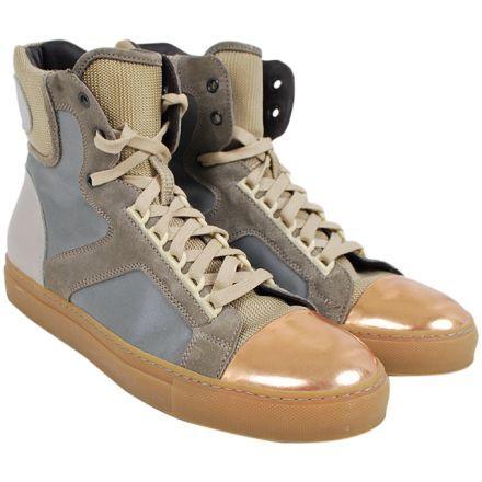 GREY LEATHER Sneakers LANVIN in FR42 152€
