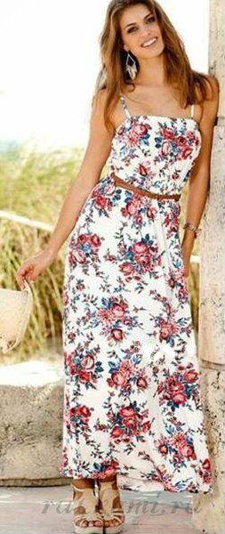 Длинные летние платья как шить