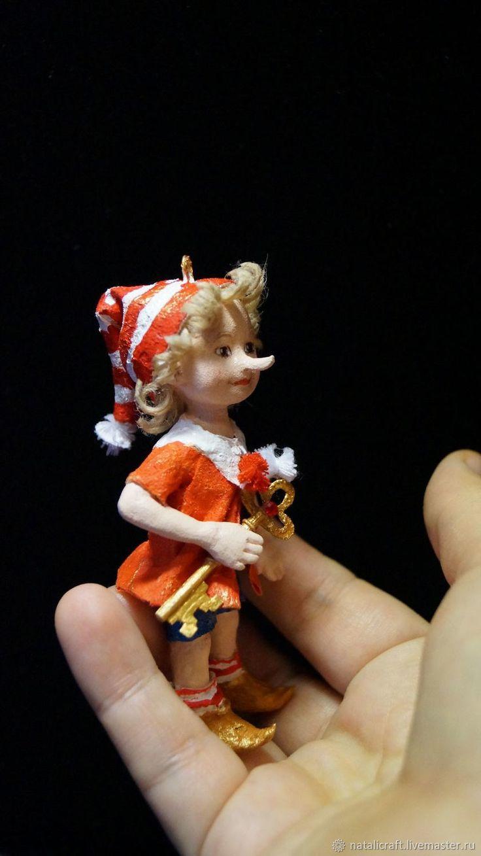 Купить Ватная игрушка - Буратино с золотым ключиком в интернет магазине на Ярмарке Мастеров