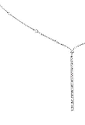 Collier Barrette verticale Gatsby or blanc et diamants Messika - Lepage