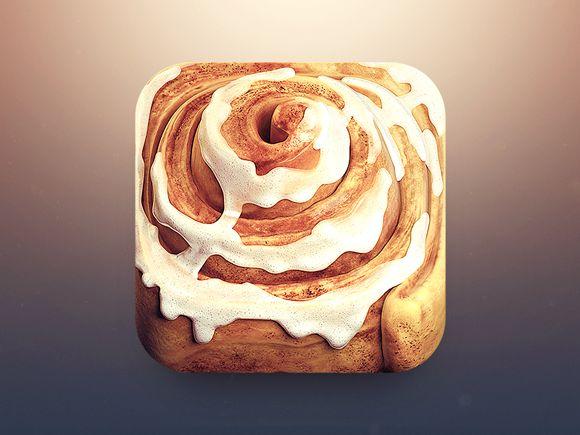 Cinnamon Roll App Icon by CreativeDash