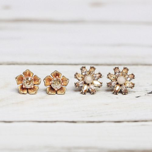 Gardenia Stud Duo Earrings