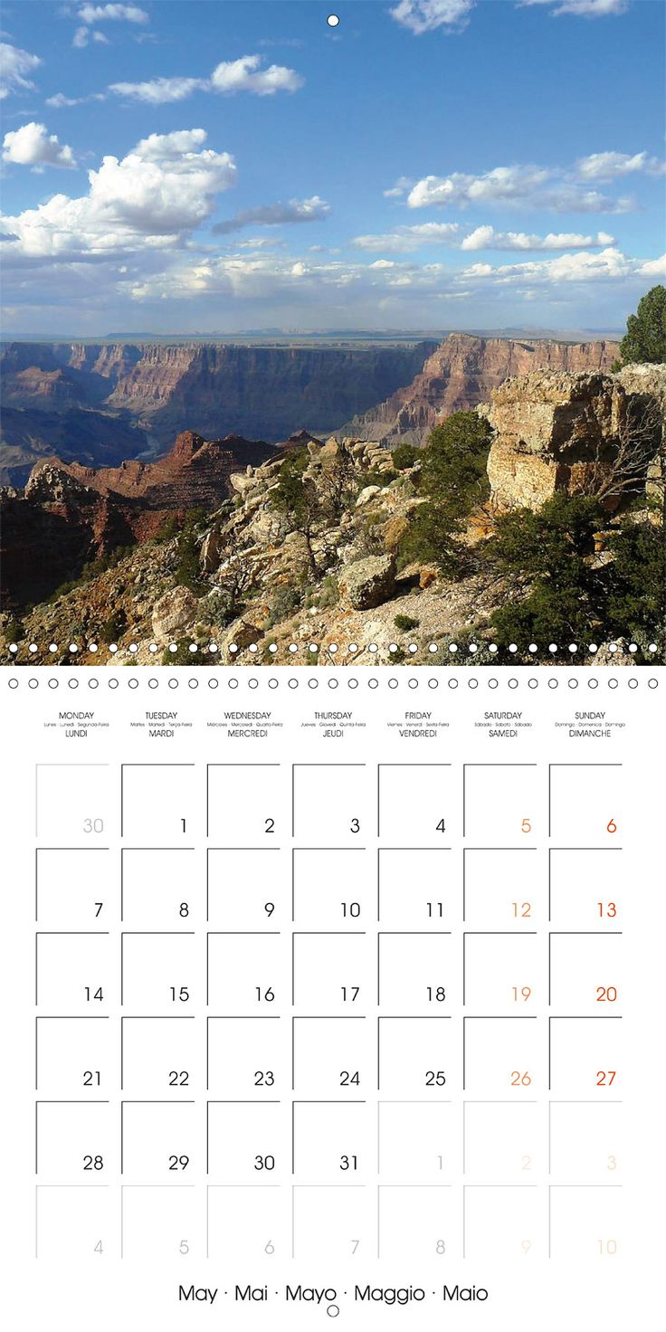 "Reisekalender mit Planer ""Hiking on the Colorado Plateau"", Kalenderblatt Mai: Grand Canyon, Desertview Drive"