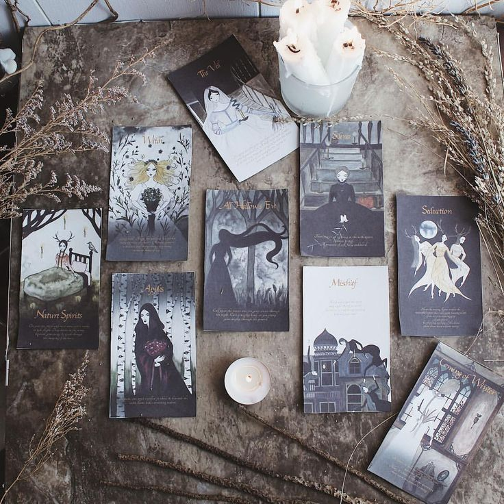 Self printed test run of my new deck... Season of the Witch: Samhain oracle deck