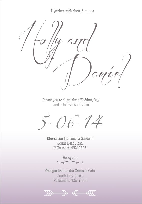 Sica Wedding Invitations | the white notebook #wedding #engaged #invitation #invitations #romantic #modern #love #ombre #purple #cursive