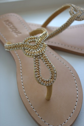 sparkly knot Mystique sandals, Kristina Richards, Newport RI