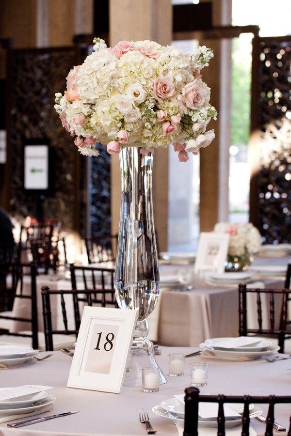 Clear Reversible Trumpet Vase Pilsner Glass Wedding Floral Centerpiece | eBay