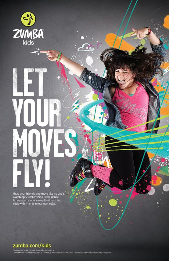 22 best zumba ad images on pinterest zumba fitness dancing and zumba kids campaign work by ben tallon via behance toneelgroepblik Gallery