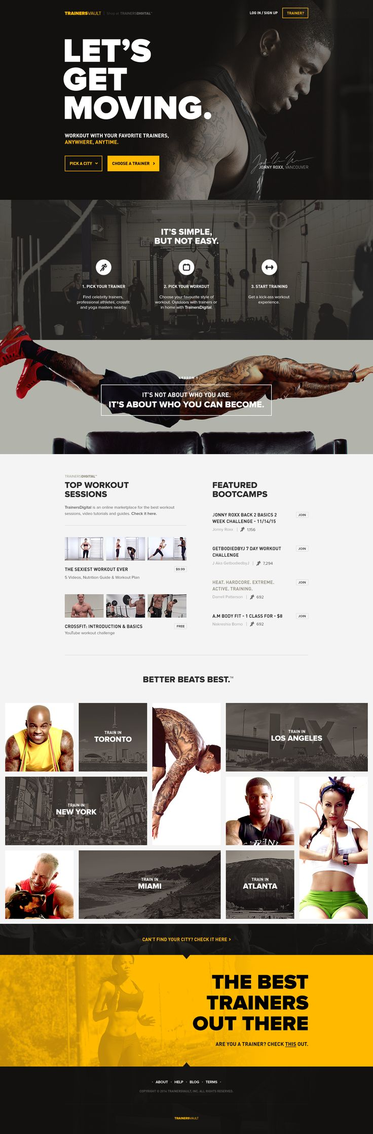 Web, flat, sporty, bold typography, traditional one page, call to action, buttons, web design
