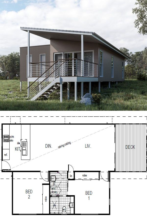 Sabre Architecturally Designed Kit Home 100m2 49 900 Aud Imagine Kit Homes The Sabre Features 2 Bed Tiny Beach House Small House Design Futuristic Home