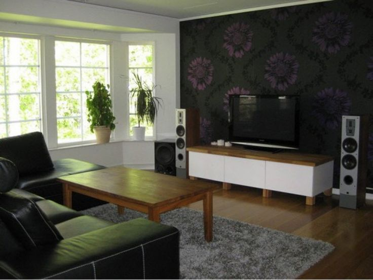 ... To Decorate Around Your Flat Screen Television: Minimalist Living Room  Design Ideas With Dark Sofa Sets With Wooden Coffee Table Wooden Floor With  Grey ... Part 89