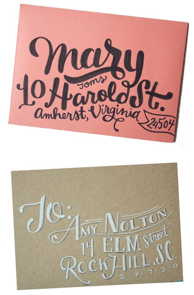 alisaburke lettering series In the envelopes