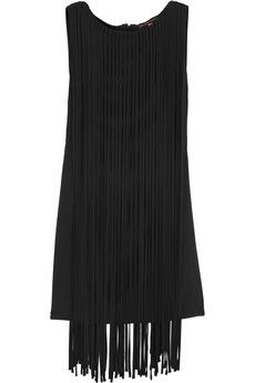 Kate Moss for Topshop Fringed jersey mini dress   NET-A-PORTER