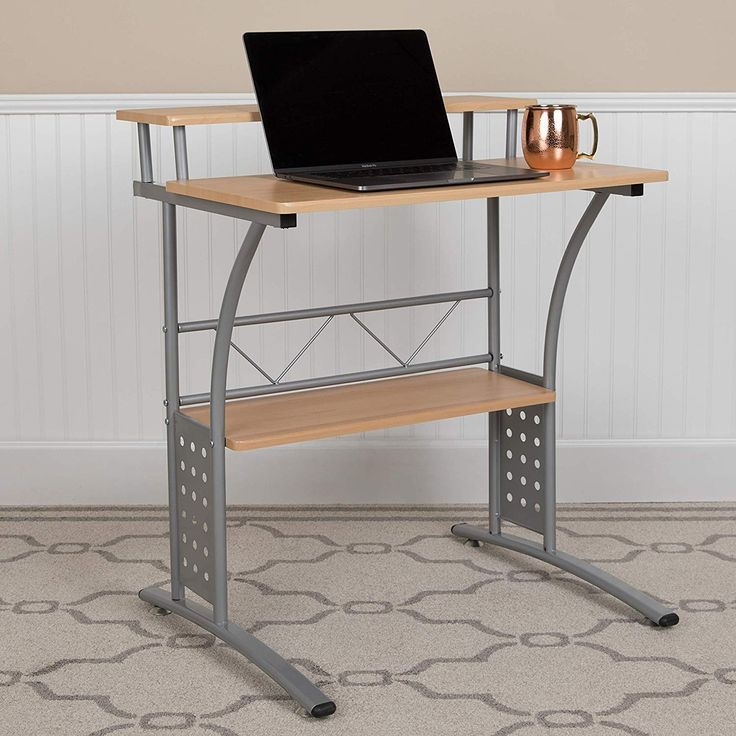 Flash Furniture Clifton Maple Computer Desk With Top And