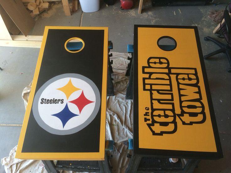 Pittsburgh Steelers Cornhole Boards I Made