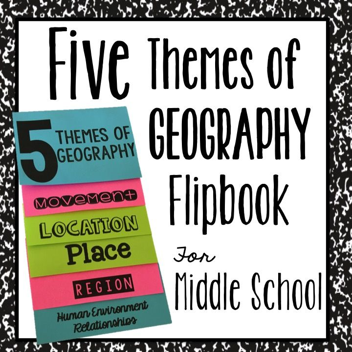 An Interactive Notebook Foldable to teach the Five Themes of Geography. Perfect for Middle Schoolers